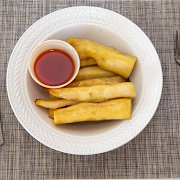 Fried Yam with Sauce