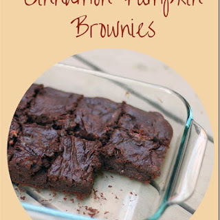 Cinnamon Pumpkin Brownie