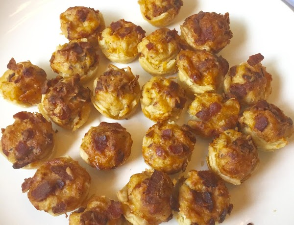 Nor's Bacon Apple Onion  Cheddar Potato Puffs Recipe