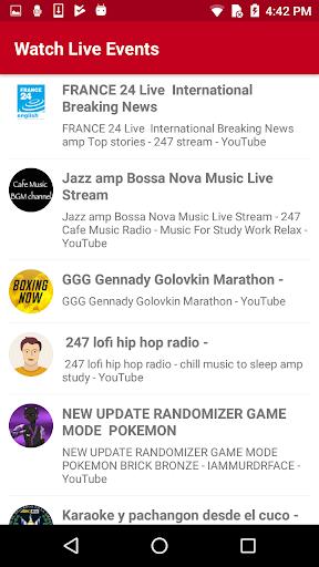 Watch Live TV Events 1.2 screenshots 2