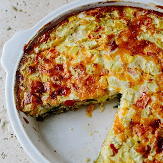 Crustless Vegetable Quiche.