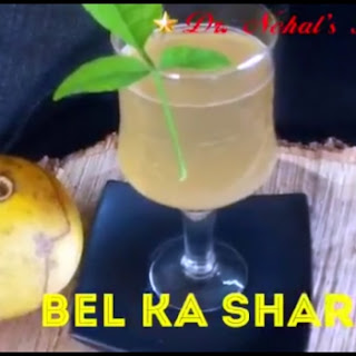 Summer Drink, Bel Ka Sharbat, Ayurvedic Drink.