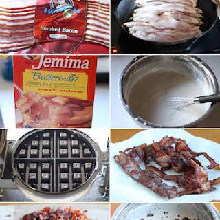 Bacon Stuffed Waffles.