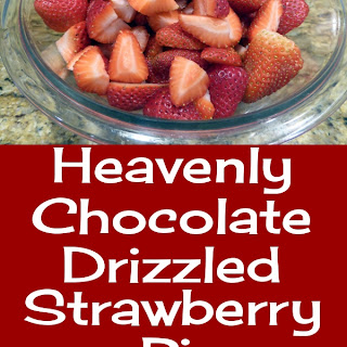 Heavenly Chocolate Drizzled Strawberry Pie.