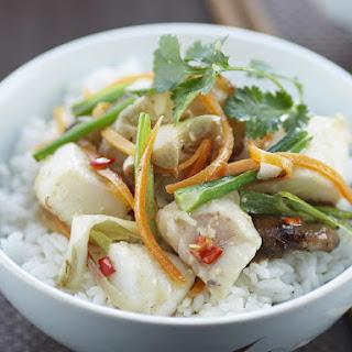 Fish and Shiitake Mushroom Stir Fry.