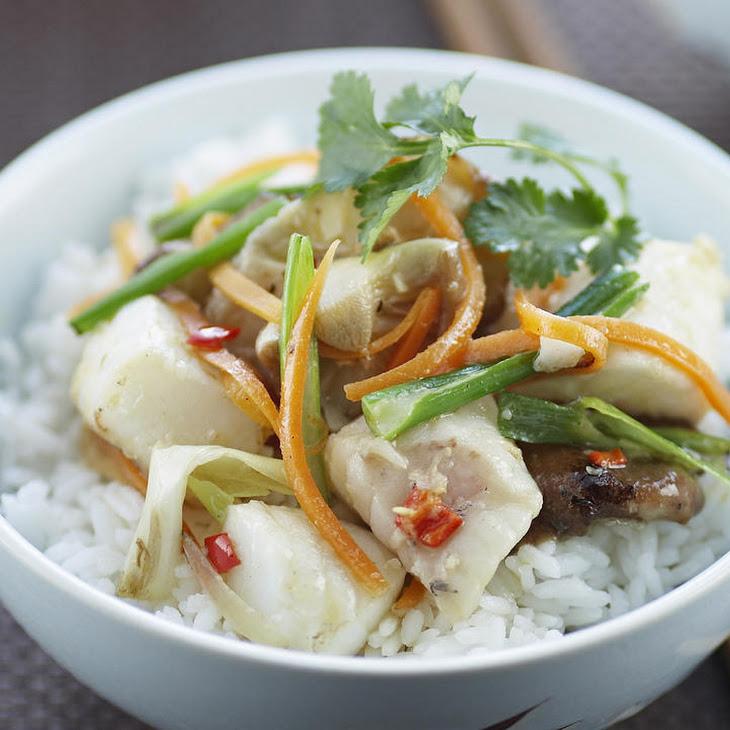 Fish and Shiitake Mushroom Stir Fry