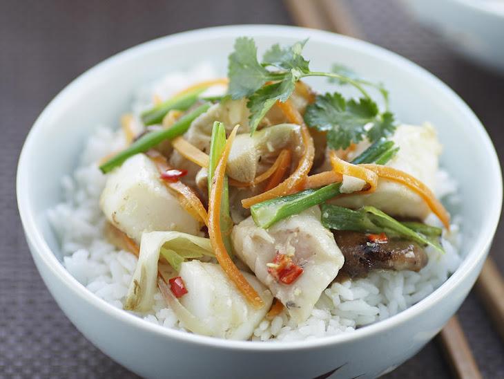 Fish and Shiitake Mushroom Stir Fry Recipe