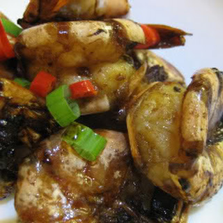 Dark Soy Glazed Tiger Prawns