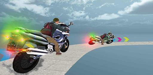 Perform heavy duty bike stunts on impossible tracks