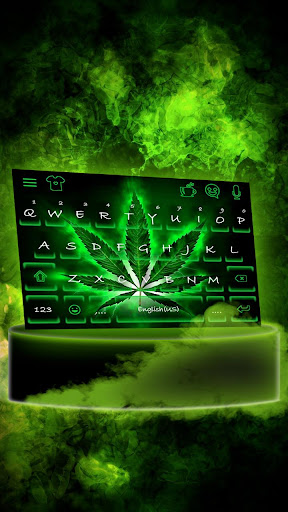 Neon Rasta Weed Keyboard Theme by Fancy Keyboard for Android Apps
