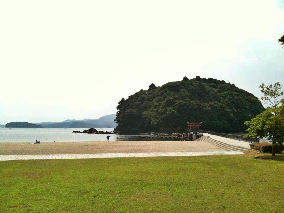 震災前の袖浜海岸・荒島