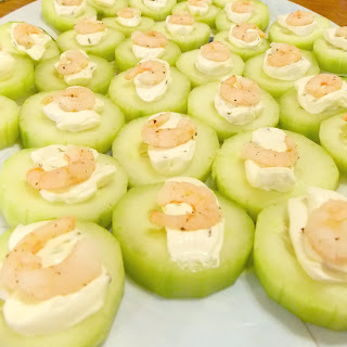 Cucumber & Shrimp Appetizer