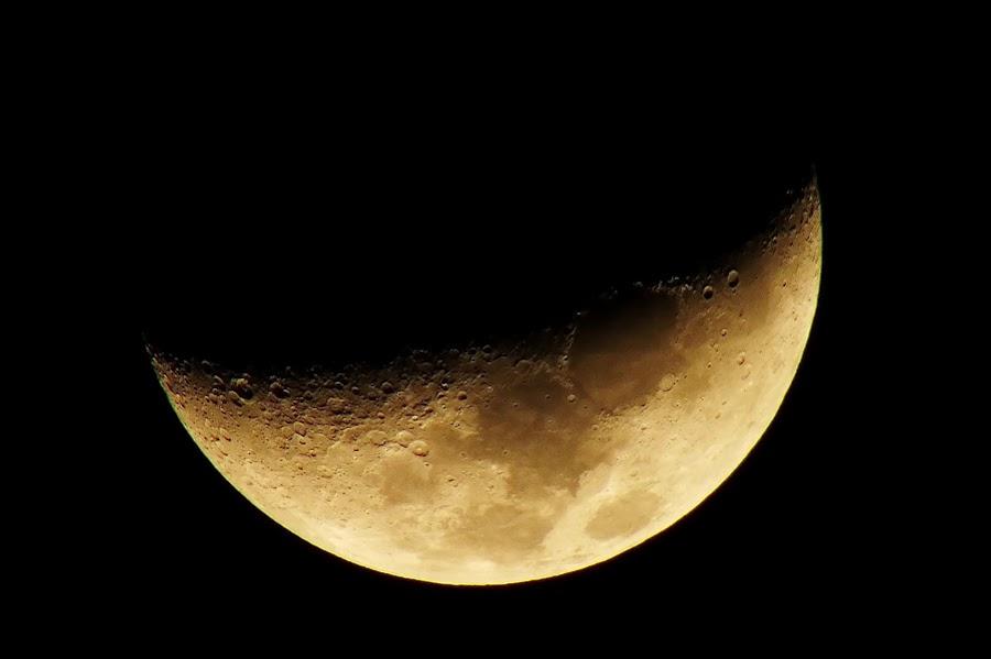 Crescent Moon by Helnis Susanto Johannis - Landscapes Starscapes