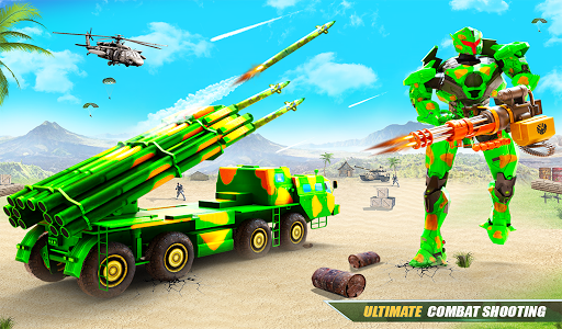 US Army Robot Missile Attack: Truck Robot Games modavailable screenshots 16