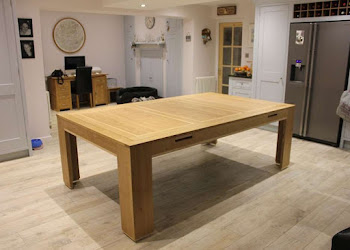 Modern Kitchen dining Table in Oak with Ash detailing