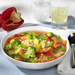 Vegetable Soup With Rice.