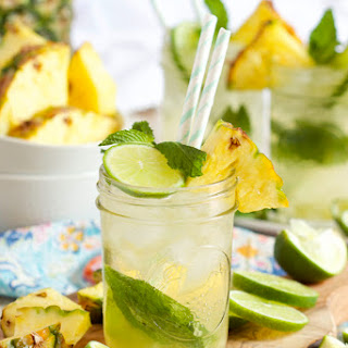 Sparkling Pineapple Cocktail.