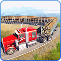 Long Trailer Truck Wood Cargo Logging Simulator icon