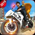 Police Moto Bike Prisoner Transport 3D icon
