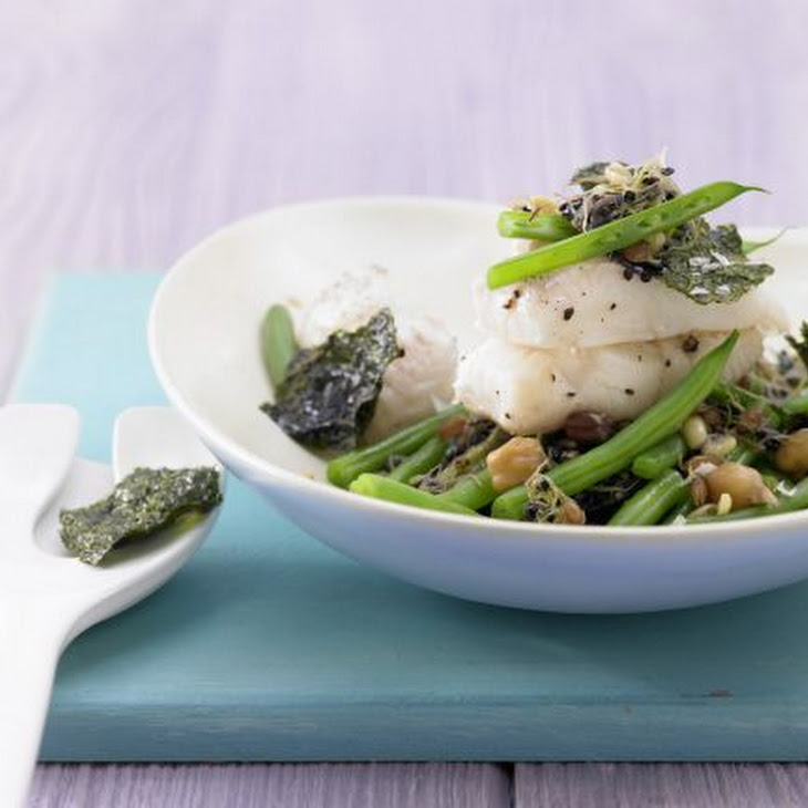 Green Bean Stir-Fry with Halibut