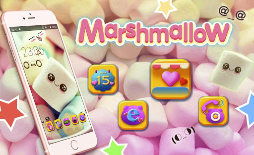 Cute Marshmallow cartoon Theme for android free 3.9.9 screenshots 5