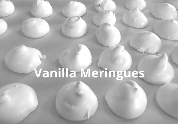 Vanilla Meringues After Baking.