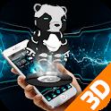 Ferro Panda 3D Metal Theme icon