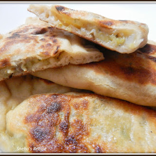 Stuffed Bazlama - A Turkish Bread #BreadBakers