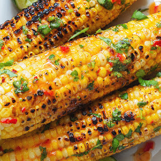 Ingredients List for the Grilled Chili Lime Butter Corn on the Cob Recipe