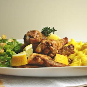 Free-Range Saffron Chicken with Mashed Potatoes