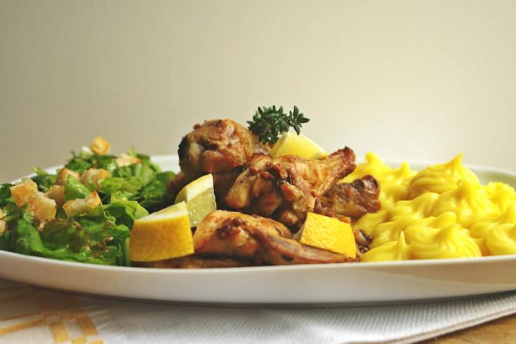 Free-Range Saffron Chicken with Mashed Potatoes Recipe