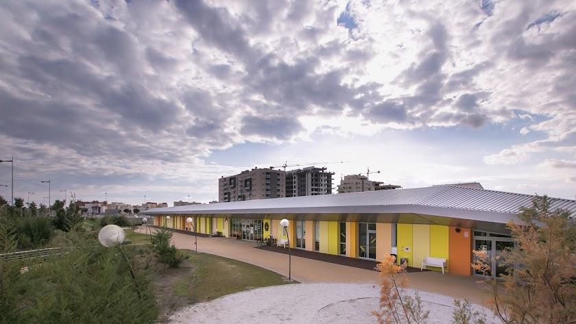 Instalaciones exteriores del Liceo Erasmus.