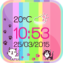 Kitty Weather Clock icon