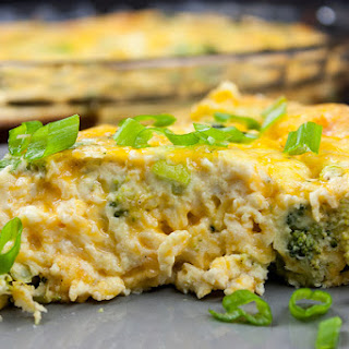 Crustless Broccoli Cheddar Quiche.