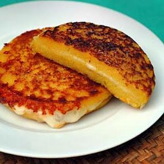 "Arepas -- Cuban Corn ""Pancake"" Sandwiches."