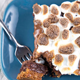Small Batch S'mores Brownies.
