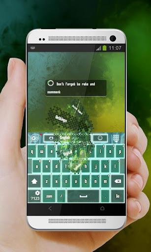 玩免費個人化APP 下載ロボットグリーン GO Keyboard app不用錢 硬是要APP