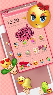 Sweet Emoji Pink Theme - náhled