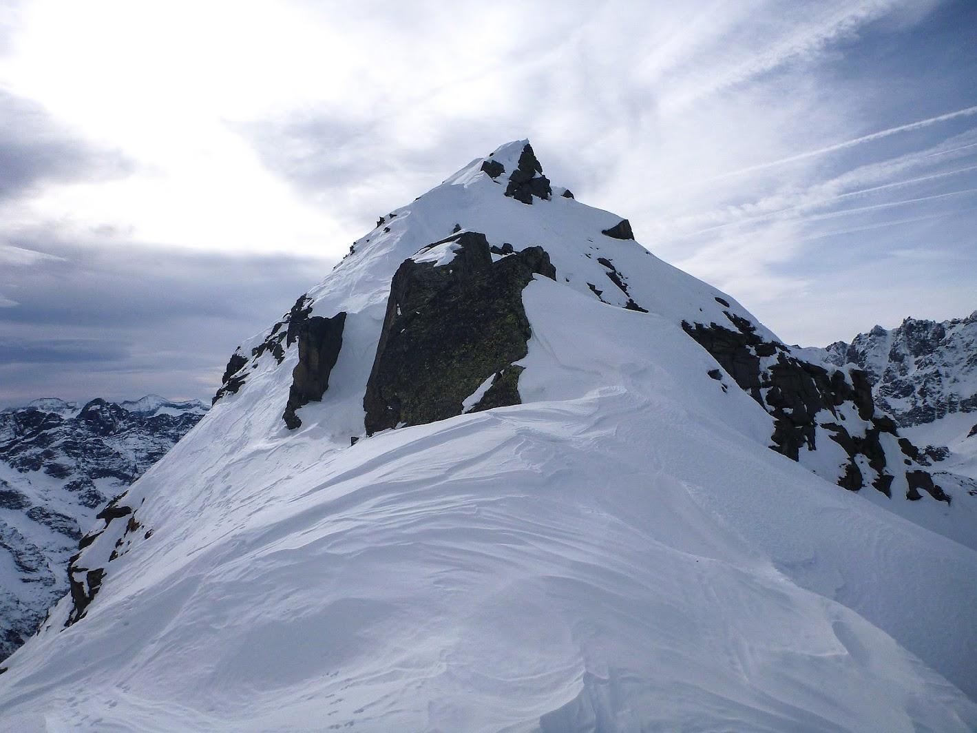 Corno Bianco, 3.1.2020, spartiacque tra Val Grande e Valle Orco