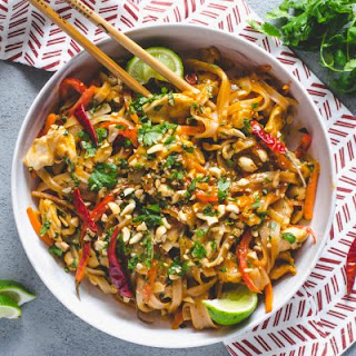 Easy Spicy Chicken Pad Thai.