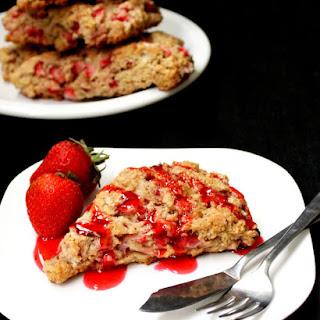Vegan Strawberry Scones.
