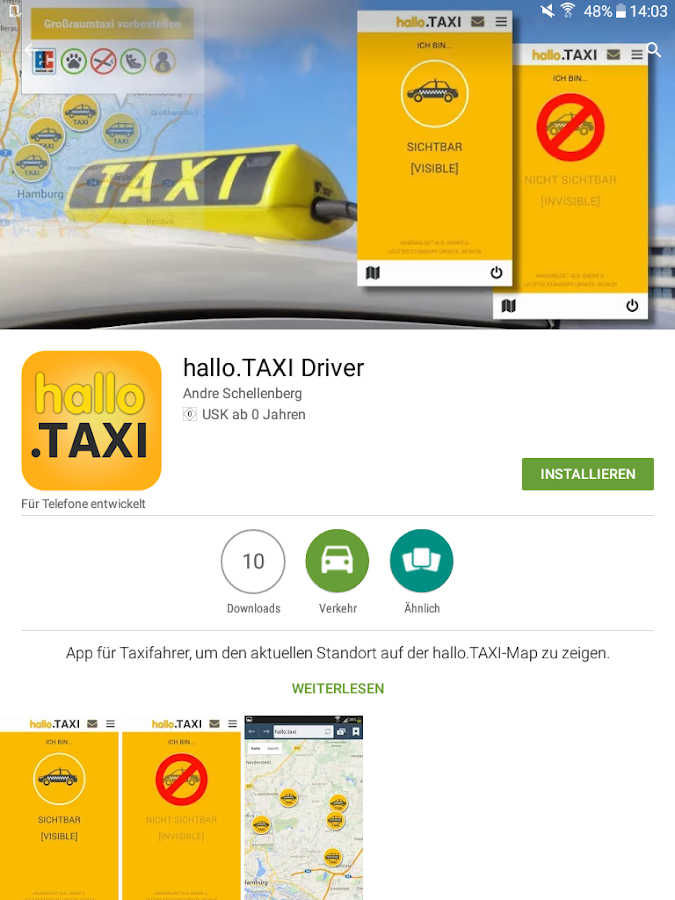 hallo.TAXI Driver- screenshot