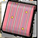 ピンクドットストライプ壁紙