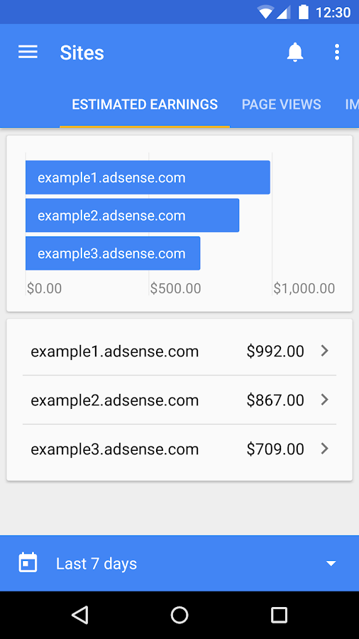 Google AdSense- screenshot