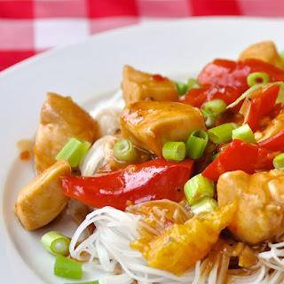 Spicy Stir Fried Orange Chicken.