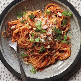 Spaghetti with Sicilian Pesto