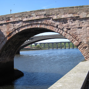 Old, newer and new bridges by Tony Pitt - Buildings & Architecture Bridges & Suspended Structures ( water, stone, bridge, pwcbridges, river )