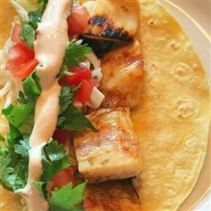 Grilled Fish Tacos with Chipotle-Lime Dressing Recipe | Yummly