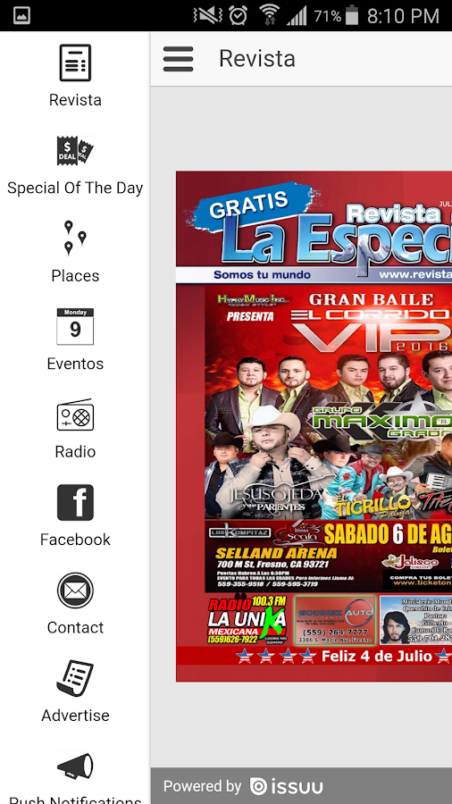 Revista La Especial- screenshot