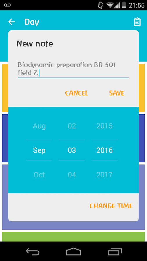 Biodynamic Calendar- screenshot